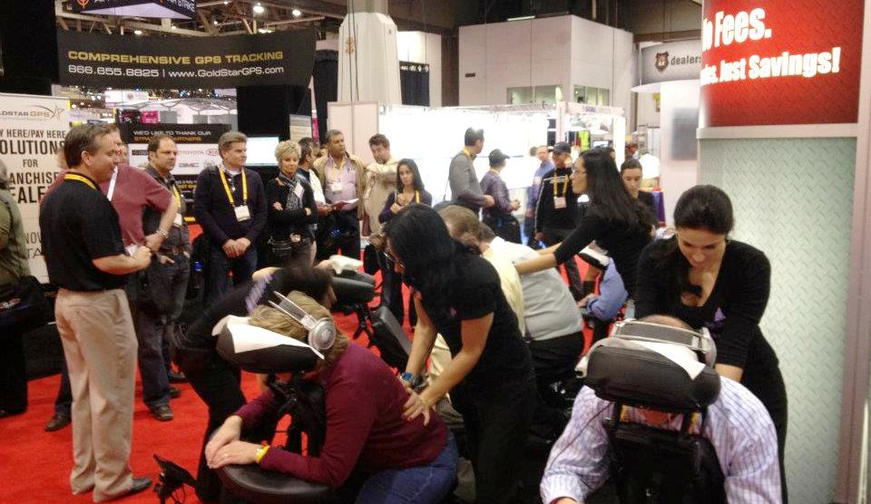 convention massages offering free back massages, chair massage for events in las vegas