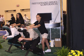 convention massages offering a chair massages, foot massages for events in las vegas